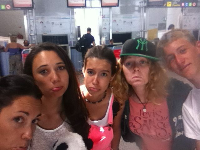 teen camp Tarifa, Cádiz, saying goodbye airport Málaga